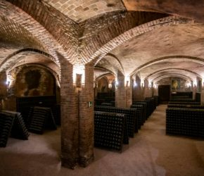 TURIN, ITALY - JANUARY 08: The sparkling wine excellence in Piemonte. Canelli Cellar. (Photo by Giorgio Perottino/Getty Images)
