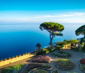Garden in Ravello village, Amalfi coast, Italy