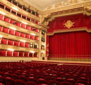 MILAN, ITALY - NOVEMBER 05: A general view of Teatro Alla Scala on November 05, 2020 in Milan, Italy. (Photo by Vittorio Zunino Celotto/Getty Images)