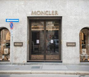 The Moncler store in via Monte Napoleone closed during the first day of the new Milanese lockdown due to the Coronavirus pandemic (Covid-19). Milan (Italy), November 6th, 2020 (Photo by Marco Piraccini/Archivio Marco Piraccini/Mondadori Portfolio via Getty Images)
