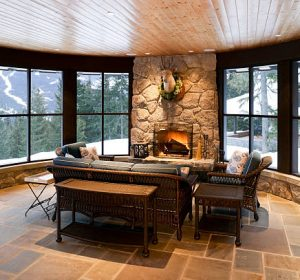 sunroom in house in whister british columbia