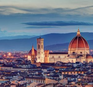 Florence, Italy - September, 2017: Florence Cathedral after the sunset